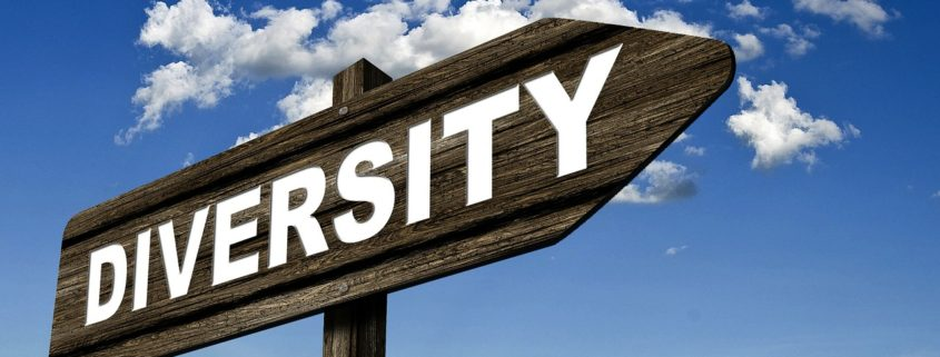 street sign pointing towards diversity