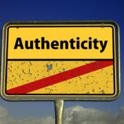'Authenticity' road sign