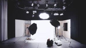 a fotoshoot setting