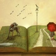 A lonely child walking into a book (overcoming narcissistic child abuse)