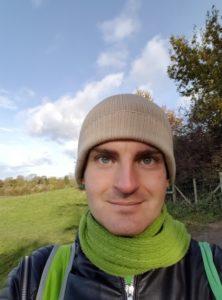 Gwydion Blackrose in Glastonbury Nov 2016