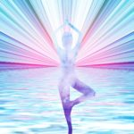 Lightworker suurounded by streams of light