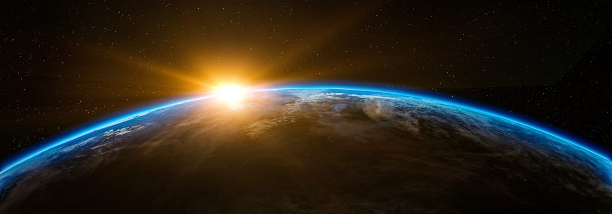 seeing a sunrise on earth from outer space