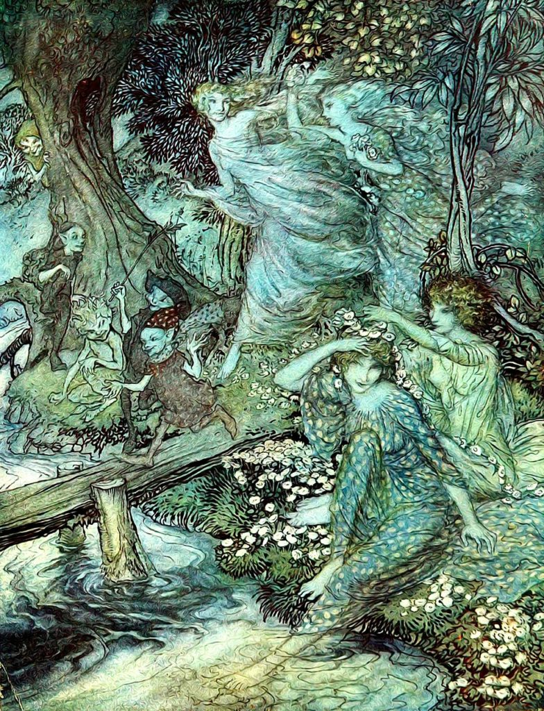 faeries, trees and water in union (Unity Consciousness)