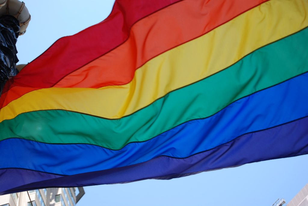 LGBT rainbow pride flag to remind us that Sacred Sexuality is for queer people, too