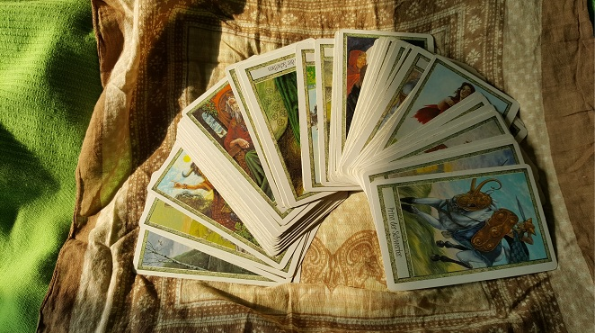 a spread of Tarot cards